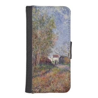 Coque Avec Portefeuille Pour iPhone 5 Alfred Sisley | un coin des bois chez Sablons