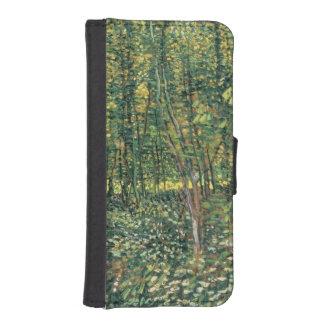 Coque Avec Portefeuille Pour iPhone 5 Arbres de Vincent van Gogh | et broussaille, 1887