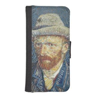 Coque Avec Portefeuille Pour iPhone 5 Autoportrait de Vincent van Gogh | avec le chapeau