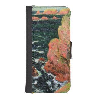 Coque Avec Portefeuille Pour iPhone 5 Belle Ile de Claude Monet |