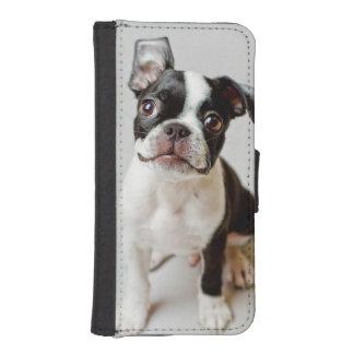 Coque Avec Portefeuille Pour iPhone 5 Boston Terrier