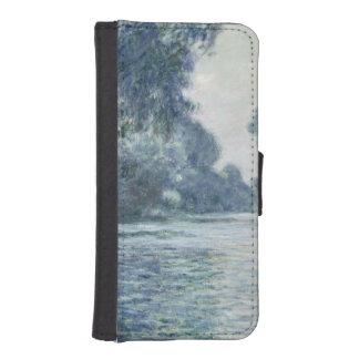 Coque Avec Portefeuille Pour iPhone 5 Branche de Claude Monet | de la Seine près de