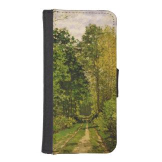 Coque Avec Portefeuille Pour iPhone 5 Chemin boisé de Claude Monet |