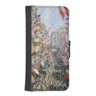 Coque Avec Portefeuille Pour iPhone 5 Claude Monet | la rue Montorgueil, Paris