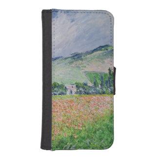 Coque Avec Portefeuille Pour iPhone 5 Claude Monet | le champ de pavot près de Giverny,