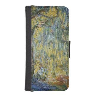 Coque Avec Portefeuille Pour iPhone 5 Claude Monet | le grand saule chez Giverny, 1918