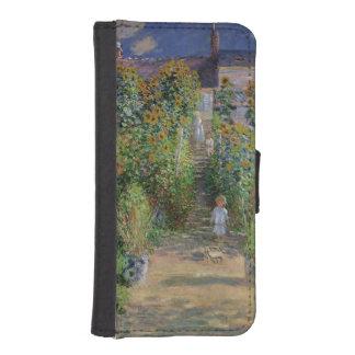 Coque Avec Portefeuille Pour iPhone 5 Claude Monet | le jardin de l'artiste chez