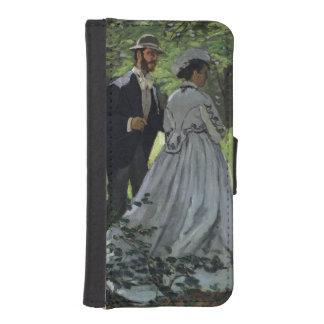 Coque Avec Portefeuille Pour iPhone 5 Claude Monet | les auditeurs d'un