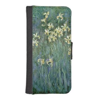 Coque Avec Portefeuille Pour iPhone 5 Claude Monet | les iris jaunes