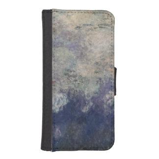 Coque Avec Portefeuille Pour iPhone 5 Claude Monet | les nénuphars les nuages 1915-26