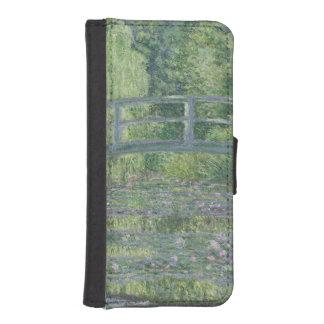 Coque Avec Portefeuille Pour iPhone 5 Claude Monet | l'étang de nénuphar : Harmonie