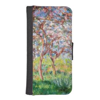 Coque Avec Portefeuille Pour iPhone 5 Claude Monet | Printemps Giverny, 1903