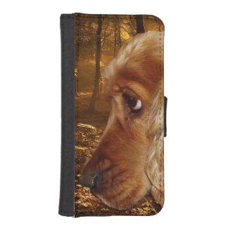 Coque Avec Portefeuille Pour iPhone 5 Cocker de chien