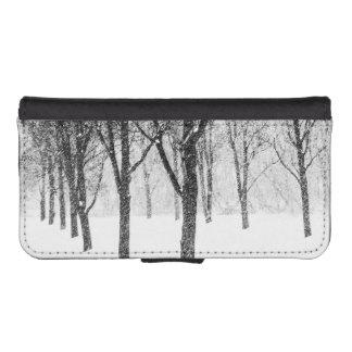 Coque Avec Portefeuille Pour iPhone 5 comme je dégrossis avec des arbres
