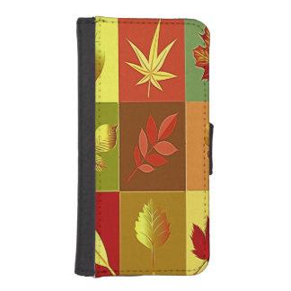 Coque Avec Portefeuille Pour iPhone 5 Couleurs en automne