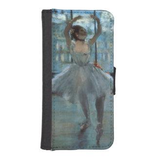 Coque Avec Portefeuille Pour iPhone 5 Danseur d'Edgar Degas | devant une fenêtre
