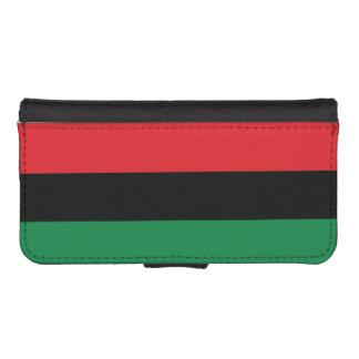 Coque Avec Portefeuille Pour iPhone 5 Drapeau rouge, noir et vert