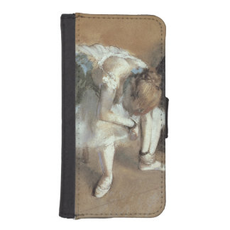 Coque Avec Portefeuille Pour iPhone 5 Edgar Degas | attendant, c.1882