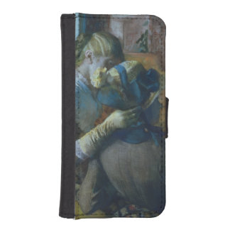 Coque Avec Portefeuille Pour iPhone 5 Edgar Degas | deux femmes