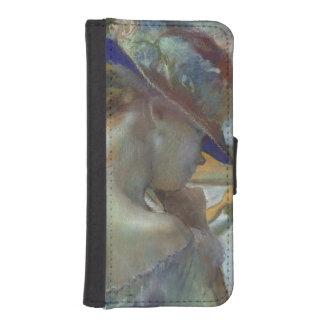 Coque Avec Portefeuille Pour iPhone 5 Edgar Degas | devant le miroir, 1889