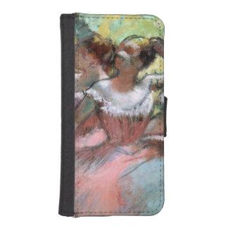 Coque Avec Portefeuille Pour iPhone 5 Edgar Degas | quatre ballerines sur l'étape