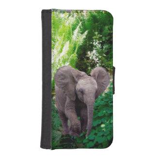 Coque Avec Portefeuille Pour iPhone 5 Éléphant et jungle