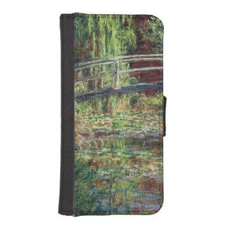Coque Avec Portefeuille Pour iPhone 5 Étang de nénuphar de Claude Monet | : Harmony