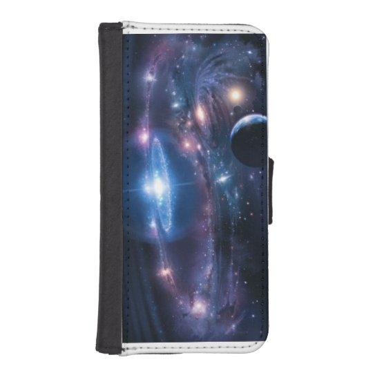 Coque Avec Portefeuille Pour iPhone 5 étui téléphone cosmos