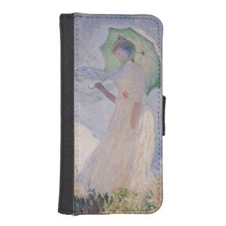 Coque Avec Portefeuille Pour iPhone 5 Femme de Claude Monet | avec le parasol tourné