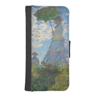 Coque Avec Portefeuille Pour iPhone 5 Femme de Claude Monet | avec un parasol