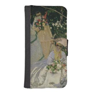 Coque Avec Portefeuille Pour iPhone 5 Femmes de Claude Monet | dans le jardin