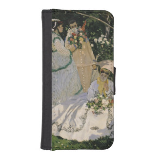 Coque Avec Portefeuille Pour iPhone 5 Femmes de Claude Monet | dans le jardin, 1866