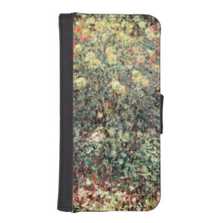 Coque Avec Portefeuille Pour iPhone 5 Femmes de Claude Monet | en fleurs, 1875