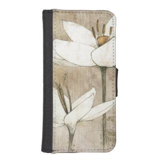 Coque Avec Portefeuille Pour iPhone 5 Floral dessiné par le crayon