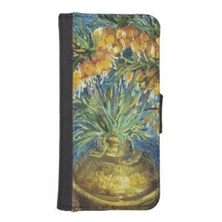 Coque Avec Portefeuille Pour iPhone 5 Fritillaires impériales de couronne de Vincent van