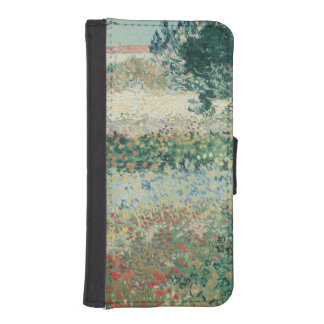 Coque Avec Portefeuille Pour iPhone 5 Jardin de Vincent van Gogh | en fleur, Arles, 1888