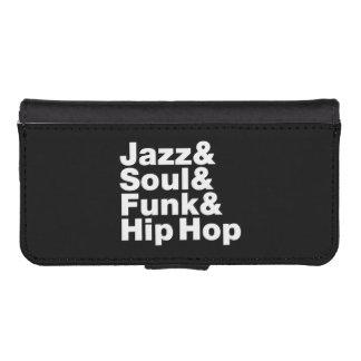 Coque Avec Portefeuille Pour iPhone 5 Jazz et âme et trouille et hip hop