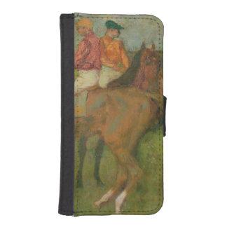 Coque Avec Portefeuille Pour iPhone 5 Jockeys d'Edgar Degas |, 1886-90
