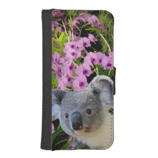 Coque Avec Portefeuille Pour iPhone 5 Koala et orchidées