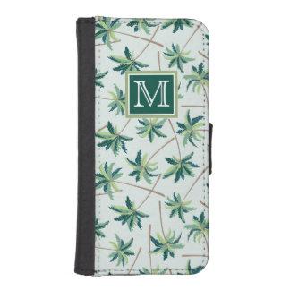 Coque Avec Portefeuille Pour iPhone 5 La paume tropicale | de vulpin ajoutent votre