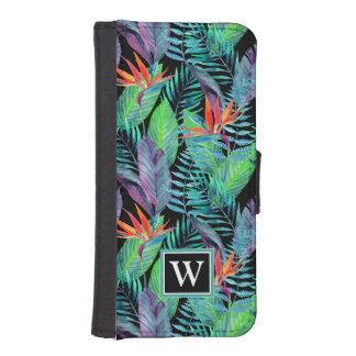 Coque Avec Portefeuille Pour iPhone 5 L'oiseau d'aquarelle du paradis | ajoutent votre