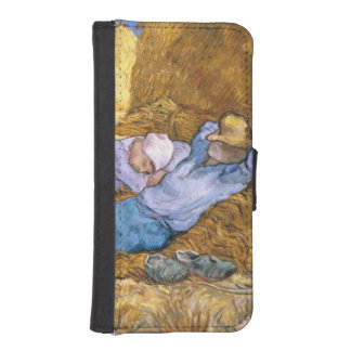 Coque Avec Portefeuille Pour iPhone 5 Midi de Vincent van Gogh |, la sièste, après
