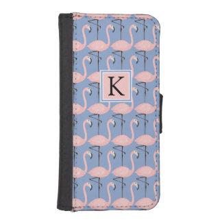Coque Avec Portefeuille Pour iPhone 5 Monogramme tendre du motif | de flamant