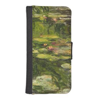 Coque Avec Portefeuille Pour iPhone 5 Nénuphars de Claude Monet |