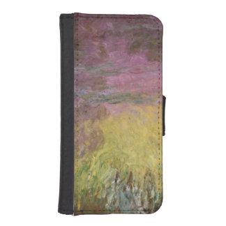 Coque Avec Portefeuille Pour iPhone 5 Nénuphars de Claude Monet | au coucher du soleil