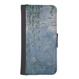 Coque Avec Portefeuille Pour iPhone 5 Nénuphars de Claude Monet | : Saules pleurants,