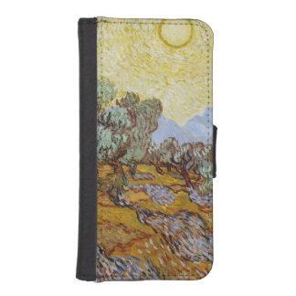 Coque Avec Portefeuille Pour iPhone 5 Oliviers de Vincent van Gogh |, 1889