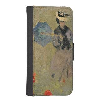 Coque Avec Portefeuille Pour iPhone 5 Pavots sauvages de Claude Monet |, près