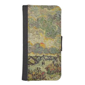 Coque Avec Portefeuille Pour iPhone 5 Paysage d'automne de Vincent van Gogh |, 1890