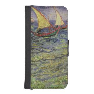 Coque Avec Portefeuille Pour iPhone 5 Paysage marin de Vincent van Gogh | chez